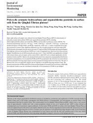 Polycyclic aromatic hydrocarbons and organochlorine pesticides in ...
