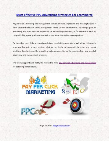 Most Effective PPC Advertising Strategies For Ecommerce