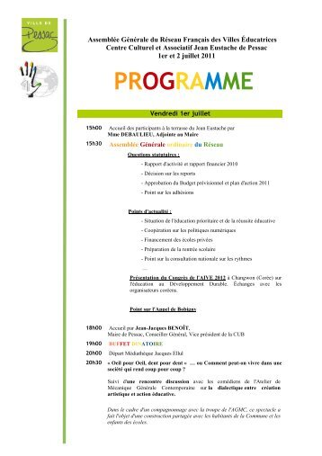Programme AG RFVE 1-2 juillet 2011 v2 - Réseau Français des ...