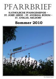 Sommer 2010 - Katholische Pfarrgemeinde St. Josef - Heide