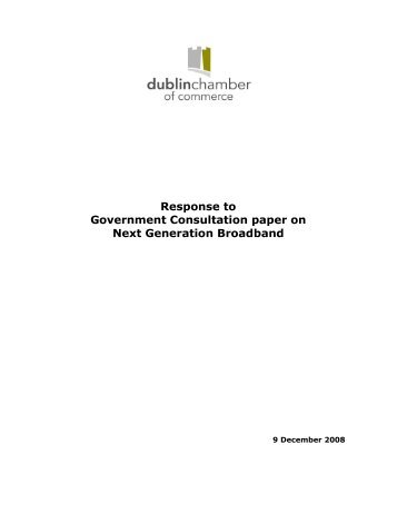 Response to Government Consultation paper on Next Generation ...