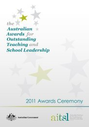 2011 Awards Ceremony - Australian Institute for Teaching and ...