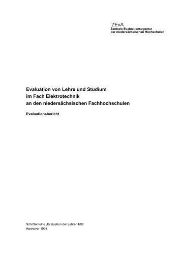 ZEvA Evaluation von Lehre und Studium im Fach Elektrotechnik an ...