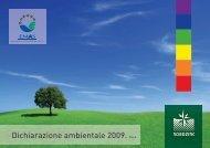 Dichiarazione Ambientale EMAS 2009 - Nord Zinc