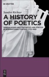A History of Poetics: German Scholarly Aesthetics ... - AAAARG.ORG