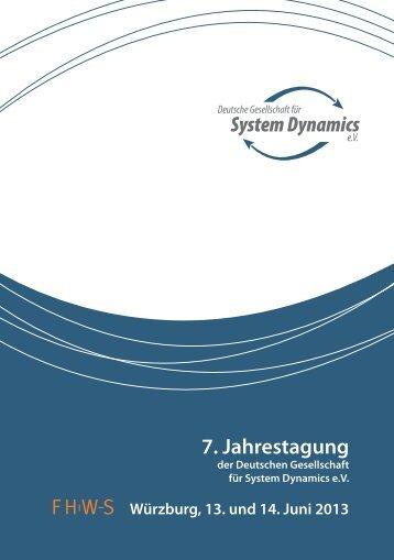 Tagungsbroschüre - Deutsche Gesellschaft für System Dynamics eV