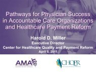 Pathways for Physician Success in Accountable Care Organizations ...