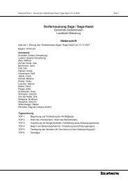 Niederschrift des Protokolls - Gemeinde Großenkneten