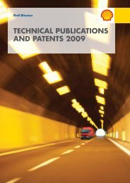 Shell Bitumen - Technical Publications and Patents 2009
