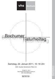 13.30 Uhr - Volkshochschule Bochum