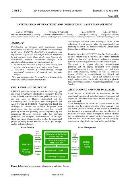 Integration of strategic and operational asset management