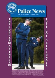 Volume 38, Number 7, August 2005 - New Zealand Police Association