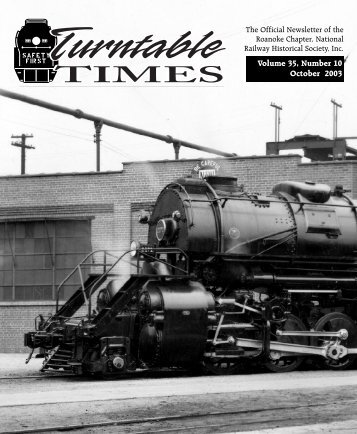 October 2003 - Roanoke Chapter National Railway Historical Society