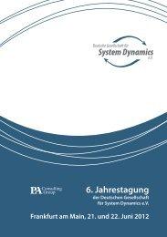 6. Jahrestagung - Deutsche Gesellschaft für System Dynamics eV