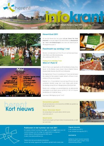 Infokrant april 2011 - Gemeente Herent