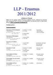 LLP - Erasmus 2011/2012