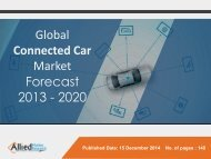Connected Car Market Size, Share,  Analysis, Segmentation and Forecast 2013 - 2020