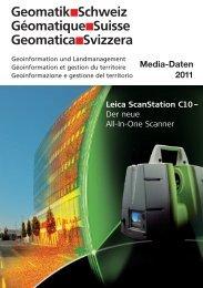 Insertionspreise 2011 - Geomatik Schweiz