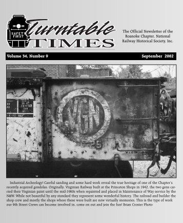 September 2002 - Roanoke Chapter National Railway Historical ...