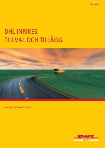 DHL InrIkes tILLvaL ocH tILLägg.