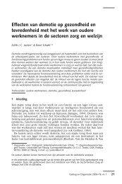 Effecten van demotie op gezondheid en tevredenheid met het werk ...