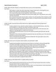Special Educator Article Summaries April 5, 2013 Edition
