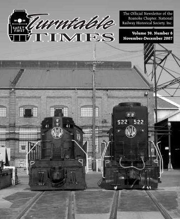 Nov-Dec. 2007 - Roanoke Chapter National Railway Historical Society