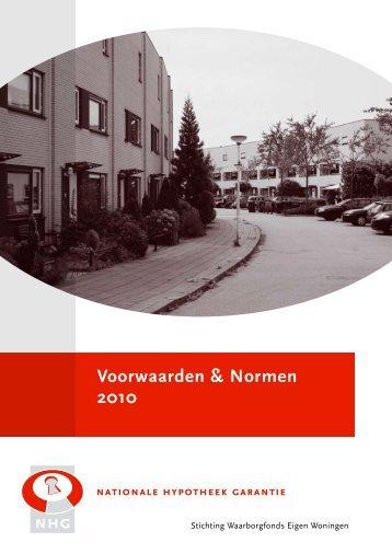 Voorwaarden en Normen 2010, geldig vanaf 1 april 2010