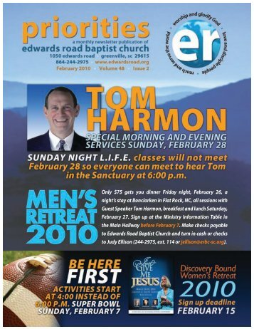 ARY 2010 LENDAR - Edwards Road Baptist Church
