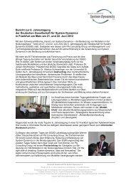 Bericht zur 6. Jahrestagung der Deutschen Gesellschaft für System ...