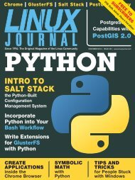 Linux Journal | November 2012 | Issue 223 - ACM Digital Library