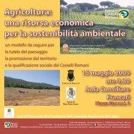 Copertina Convegno Frascati - Parco Regionale dei Castelli Romani