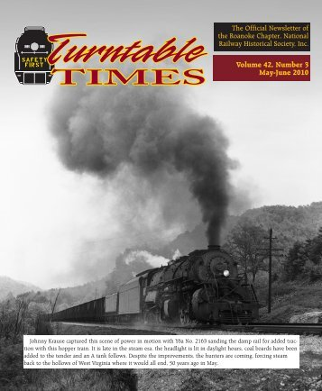 May-June 2010 - Roanoke Chapter National Railway Historical ...