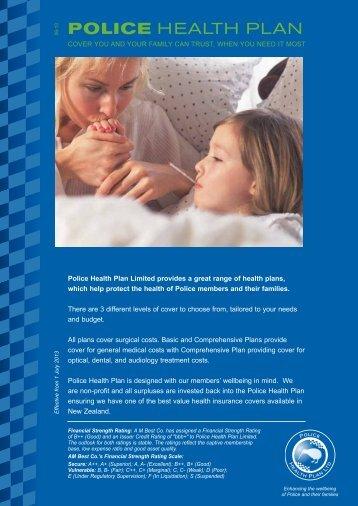 POLICE HEALTH PLAN - New Zealand Police Association