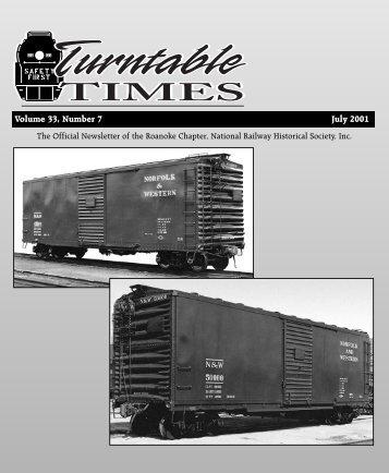 July 2001 - Roanoke Chapter National Railway Historical Society