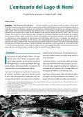 L'emissario del Lago di Nemi L'emissario del Lago di Nemi L ... - Page 3