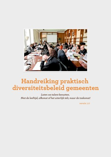 Handreiking praktisch diversiteitsbeleid gemeenten - A+O fonds ...