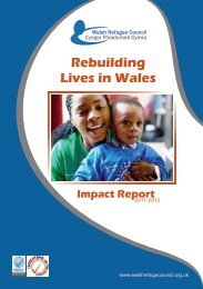 Rebuilding Lives in Wales Impact Report - Welsh Refugee Council