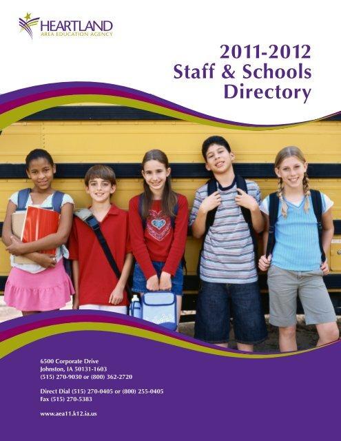 2011-2012 Staff & Schools Directory - Heartland AEA 11