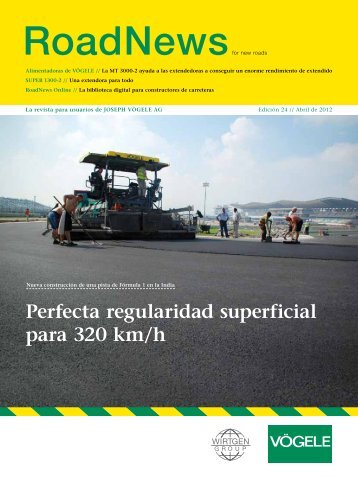 Perfecta regularidad superficial para 320 km/h