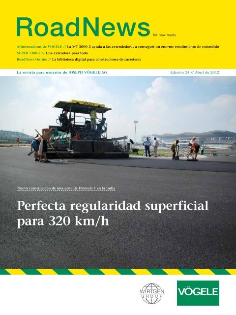 Perfecta regularidad superficial para 320 km/h
