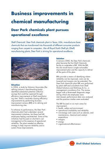 Shell Global Solutions - Case Study - Deer Park