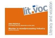 Worker in woodprocessing industry - Grundbildung und Beruf