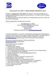 Protokoll från FÖRENINGEN RB111 SEGLARNA styrelsemöte nr 42