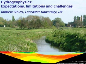 Hydrogeophysics: Expectations, limitations and challenges