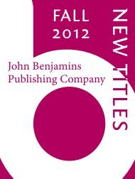Linguistics - John Benjamins