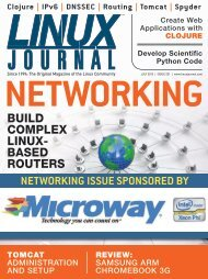 Linux Journal | July 2013 | Issue 231 - ACM Digital Library