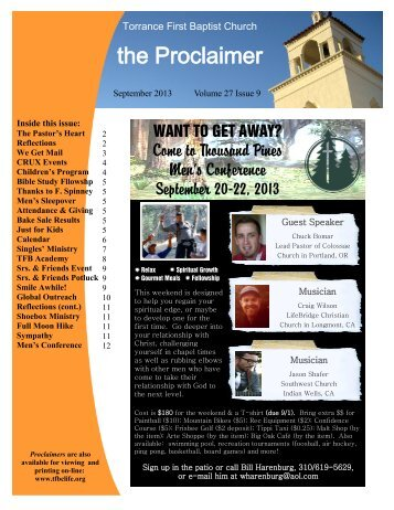 the Proclaimer - Torrance First Baptist Church