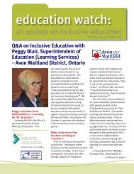 Education Watch V5 I3 Summer 2015 Inclusive Education Canada 2015