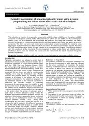Reliability optimization of integrated reliability model using dynamic ...